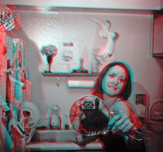 Persistence of Vision: Shooting Regina Bailey Foto 3d, Persistence Of Vision, 3d Pictures, Photos, David Bailey, Fun At Work, Three Dimensional, Red And Blue, The Incredibles