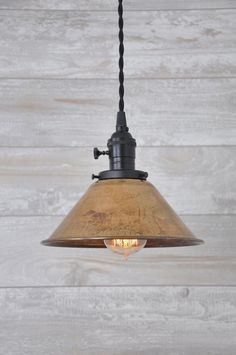 Unfinished Copper Spun Cone Industrial Pendant Light Fixture Rustic Vintage by wiresNjars on Etsy https://www.etsy.com/listing/229674700/unfinished-copper-spun-cone-industrial