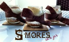 Sexy s'mores in a jar