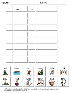 Printables Worksheets For Kids With Autism all about me worksheet for kids with autism 3 different leveled worksheets literacy ideas pinterest and it