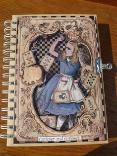 Altered notebook Alice Alice in by BlanchardsEmporium on Etsy, $26.00