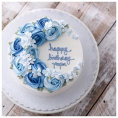 22 Ideas Birthday Cake Blue Beautiful Cupcakes For 2019 Birthday Cake Cookies, Special Birthday Cakes, Cookie Cake Birthday, Birthday Cake Decorating, Happy Birthday Cakes, Birthday Cake Designs, Birthday Sweets, Cupcakes Decorating, Birthday Wishes