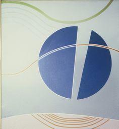 Divided Blue Circle