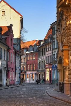 In Riga, the capital city of the Baltic state of Latvia, where life is simple and quaint sights like this are commonplace. The Places Youll Go, Places To See, Baltic Region, Riga Latvia, Dubrovnik, Eastern Europe, Cities, Places To Travel, Destinations