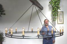 6' chandelier & its blacksmith