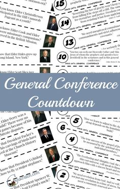 Countdown to General Conference! (updated for October 2015)