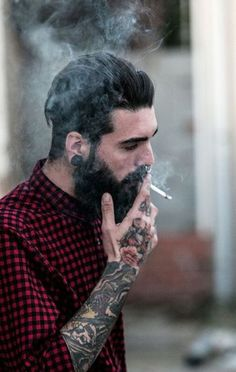 "beardsplustattoos: "" Holdin' on Model: Edwar Tiger Photo: David Alvarez """