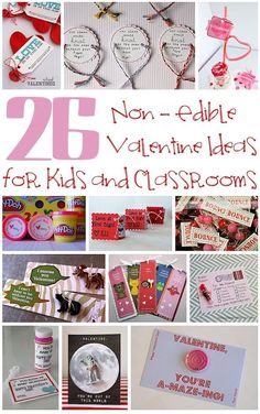 26 Non-Edible Valentine Ideas for Kids - If you are looking for a fun Valentine's Day gift your kids can give their classmates, check out these non-edible Valentine ideas.