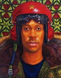 man with helmet by Oscar Estevez Helmet, Artist, Hockey Helmet, Artists, Helmets