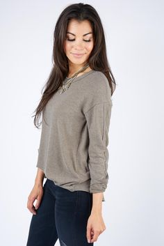 Madison Brushed Crew Neck FATIGUE - Got this in grey and love it!