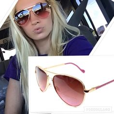 NWT Jessica Simpson Rose gold aviators  Super cute rose gold JS sunglasses, brand new with tag Jessica Simpson Accessories Sunglasses