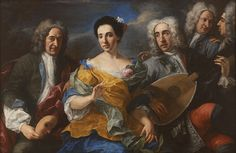 Attributed to Pier-Leone Ghezzi Italian, 1674-1755 A Troupe from the Commedia Dell'arte, late 17th century-mid 18th century Oil on canvas 122.2 x 170.5 cm (48 1/8 x 67 1/8 inches) Museum Appropriation Fund 44.161