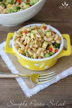 A quick and easy veggie pasta salad | www.veggiesdontbite.com | #vegan #plantbased #glutenfree