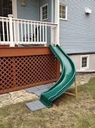 Image result for kids slide embedded in hill