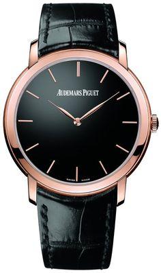 Audemars Piguet: Jules Audemars Extra Thin model 15180 (Pink Gold case, Black Dial)