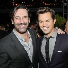 Star Tracks: Tuesday, January 6, 2015 | BOYS WILL BE BOYS | Also getting in a little Girls time in N.Y.C. Monday night: Jon Hamm and one of the show's male stars, Andrew Rannells.