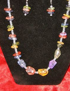 Sweet Candy Nugget Necklace with Earrings