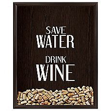 image of Save Water Drink Wine Graphic Wall Art
