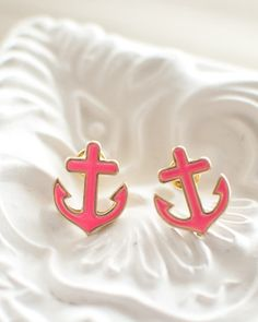 Nautical Anchor Earrings – Hawthorne Collection Boutique
