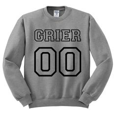 Grey Crewneck Jersey Numbers Hayes Grier by TeesAndTankYouShop