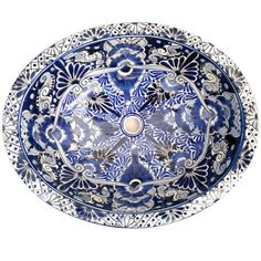 Classic cobalt blue and white designs in the Spanish and Italian style, light up this beautiful hand-painted Mexican ceramic sink. It will add a unique and spl Spanish Style Bathrooms, Spanish Bathroom, Spanish Style Homes, Spanish Revival, Spanish Colonial, Traditional Bathroom Furniture, Traditional Bathroom Suites, Traditional Style Taps, Old Fashioned Bathtub