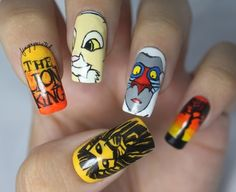 Lion King Nails - Nail Art Gallery by NAILS Magazine. -This is pretty crazy Love Nails, How To Do Nails, Pretty Nails, Fun Nails, Swag Nails, Lion King Nails, Le Roi Lion, Disney Nails, Nail Art Galleries