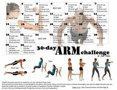 30 Day Arm Challenge: combo this with a couple other 30 day challenges and have yourself a full body workout. Fitness Workouts, 30 Day Fitness, Body Fitness, At Home Workouts, Fitness Tips, Health Fitness, Arm Workouts, Fitness Challenges, Workout Exercises