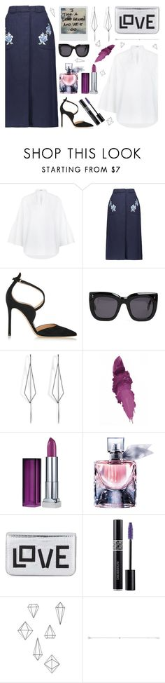 """""""Look Day"""" by esterbf ❤ liked on Polyvore featuring Valentino, Vilshenko, Gianvito Rossi, Polaroid, STELLA McCARTNEY, Diane Kordas, Maybelline, Lancôme, Les Petits Joueurs and Christian Dior"""