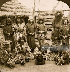 1906: Ainu men the aborigines of Japan, in feast attire, Island of Yezo; The Äynu (also Ainu, Abdal, and Ainu) are a people native to the Xinjiang region of western China. There are estimated to be fewer than 30,000 Äynu, mostly located on the fringe of the Taklamakan Desert.