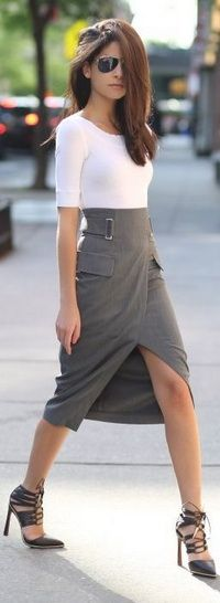 #Love the #skirt and #shoes with simple #top