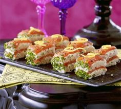 Smoked Salmon, Herb & Cream Cheese Stacks