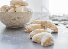 Almond Crescent Cookies, almond, pecan or walnut these melt in your mouth Christmas Cookie Recipe are a must make. Italian Christmas Cookie Recipes, Italian Cookie Recipes, Italian Cookies, Easy Cookie Recipes, Holiday Recipes, Dessert Recipes, Pastries Recipes, Hungarian Recipes, Portuguese Recipes