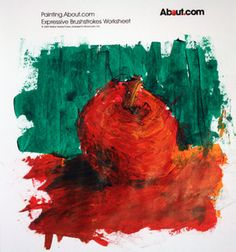 Painting an apple in an expressive style - Photo © 2009 Marion Boddy-Evans. Licensed to About.com, Inc.