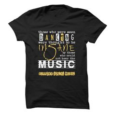 Show you support your local music scene when you wear this stylish t-shirt with a well-known quote about music!