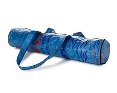 Yoga mat bag from recycled rice bags