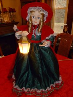 animated telco motionette motion ette christmas victorian doll vintage 1990s - Animated Christmas Dolls