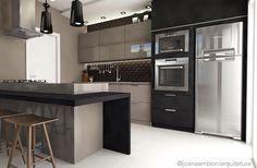 Cozinha com bancada em ilha, como não amar? #kitchens #cozinhagourmet #ilha #joanaamboniarquitetura #projetos #design #instadecor #furniture