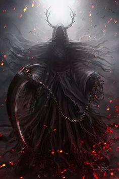 Pin by one eyed king on reaper in 2019 dark fantasy art, grim reaper art, f Dark Fantasy Art, Fantasy Artwork, Dark Art, Gothic Artwork, Fantasy Monster, Monster Art, Fantasy Character Design, Character Art, Grim Reaper Art