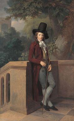 Portrait of Nicolas Châtelain by Johann Friedrich August Tischbein, 1791, Neue Pinakothek
