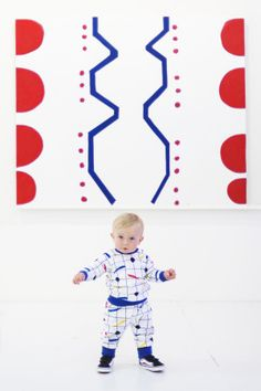 Leonardo sporting limited edition of Malevich 2-piece set, from Primary Collection SS2016 kids fashion | primary colors | graphic | style
