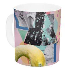 East Urban Home Flamingo Tropical by Vasare Nar 11 oz. Ceramic Coffee Mug