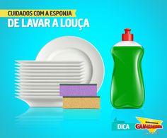 Cuidados com a esponja de lavar louça — Supermercados Guanabara