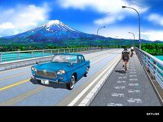 スカイラインのイラスト壁紙 : 鈴木英人