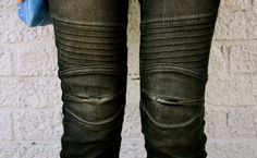 Diggin the texture of these motorcycle jeans #style #fashion