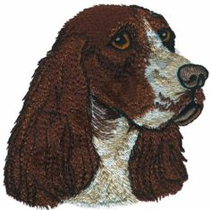 springer spaniel embroidery | Great Notions Embroidery Design: ENGLISH SPRINGER ESPANIEL 4.00 inches ...