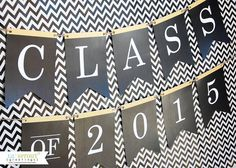 free printable Class of 2015 grad banner | LilSproutGreetings.com
