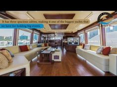 Luxurious yacht to host private and personal large gatherings, she is perfect options to make your trips more exciting.