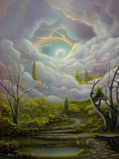 An Epic Tale. Fantasy Fairy Tale Landscape Painting. By Philippe Fernandez Painting  - An Epic Tale. Fantasy Fairy Tale Landscape Painting. ...