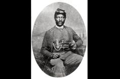 Sgt. James H. Harris, a Marylander and member of Company B, Thirty-eight Fifth U.S. Colored Troops, in a photograph taken between 1864-1898. Harris was one of 23 black Union soldiers, who served with such distinction during the Civil War that he received the Medal of Honor.
