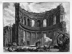 Avanzi del Tempio detto di Apollo nella Villa Adriana vicino a Tivoli, incisione
